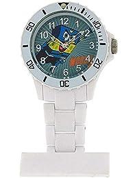 Spongebob Squarepants Water Resistant White Nurses Rotating Bezel Fob Watch SB36