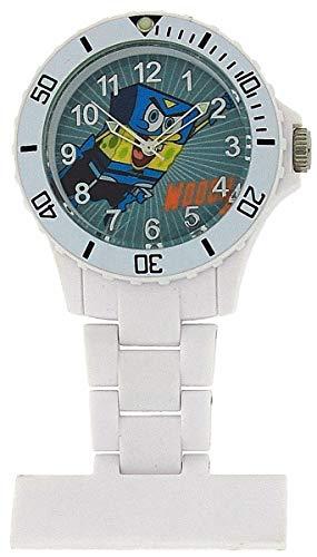 Reloj de Bolsillo para Enfermera Spongebob-Bob Esponja con Bisel Giratorio en Blanco SB36