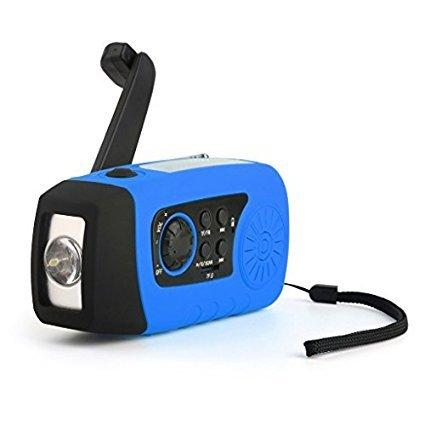 iMinker portatile solare di emergenza della manovella autoalimentato Radio FM con [2000mAh] USB Banca di (Autoalimentato Torcia)