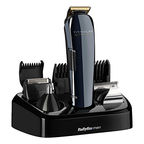 BaByliss for Men Titanium Nitride Face and Body Multi Groomer | Men's Beard