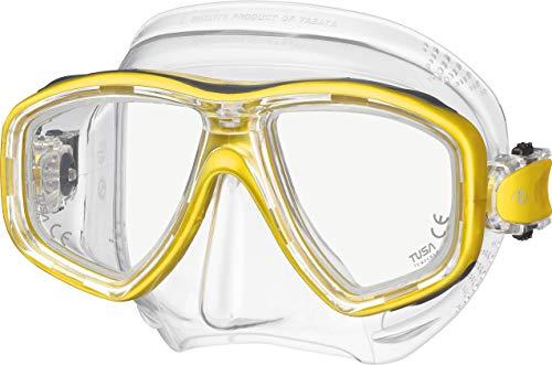 Tusa Freedom CEOS M-212 Masque de plongée avec Tuba pour Adulte avec Verres correcteurs, Moon Gold