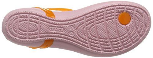 Crocs Isabellatstrap, Sandales Bout Ouvert Femme Orange (Active Orange/Petal Pink)