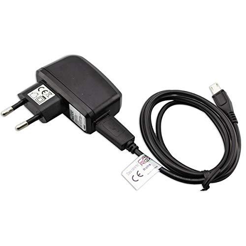 caseroxx Handy LadekabelLadegerät/Ladeadapter + Kabel für ZTE,Bestore J6, hochwertiges Ladegerät bestehend aus 220V Adapter und Datenkabel, zum Aufladen (Flexibles, stabiles Kabel in schwarz)
