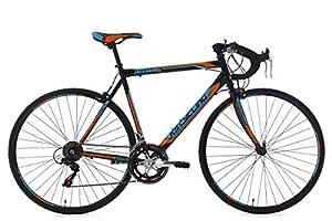 KS Cycling Fahrrad Rennrad Piccadilly RH 59 cm, Schwarz/Orange/Blau, 28 Zoll,...