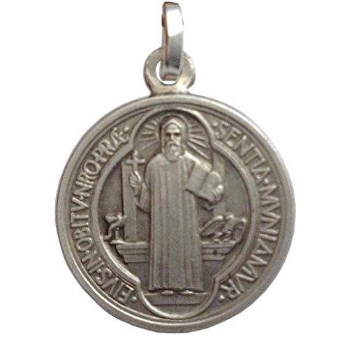 Medalla de San Benito de Plata de Ley 925 - Las medallas de Los Patronos