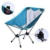 Zenph Campingstuhl Klappbar, Ultraleichte Portable - Deluxe Klappstuhl Mit Kleine Taschen, Bis zu 264 Lbs, für Wanderer, Angeln, Strand, Outdoor, Blau