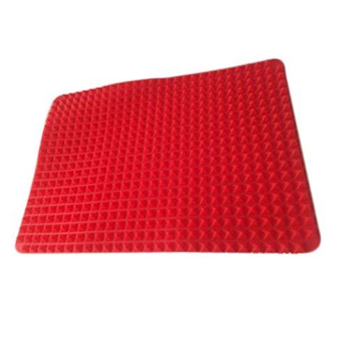 RosewineC Silikon Backmatte Backunterlage Backpapier Teigmatte Backmatte Antihaftbeschichtung Backblech Matte, 40,5 x 29cm, Rot
