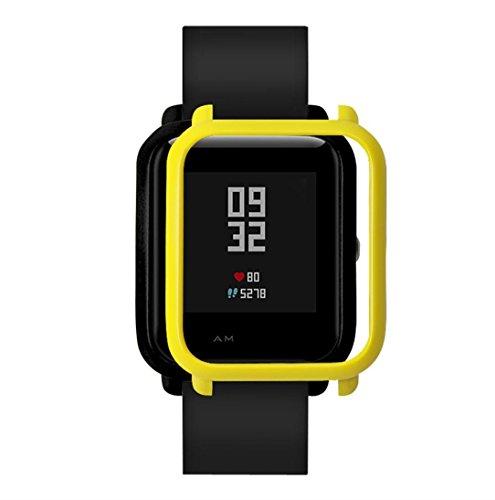 Logobeing Funda Completa para Huami Amazfit Bip Youth Watch Protección Suave de TPU de Silicona Smartwatch Protector (P)