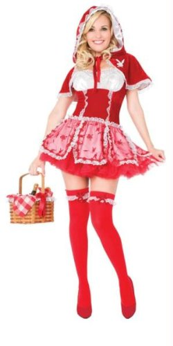 Playboy Little Red Vixen Sexy Adult Costume Small