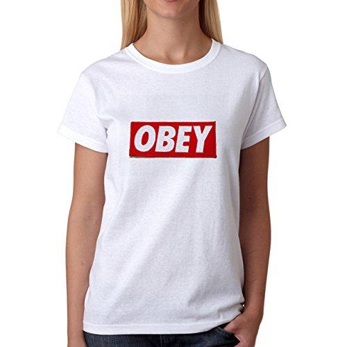 Illuminati Triangle Art Majestic Obey Damen T-Shirt Weiß