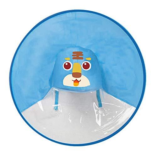 FORH Kind Regenjacke Netter Regenmantel für Männer und Junge Mädchen Regen Mantel Kleine gelbe Ente Regenschirm Hut Poncho Regencape Regenkleidung (S, Blau D)