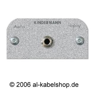 Kindermann 7441000511 Audio 3,5 mm Klinke Blende mit Kabel Buchse auf Buchse, 50 x 50 mm schwarz