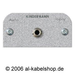 Modulare Audio-rack (Kindermann 7441000511 Audio 3,5 mm Klinke Blende mit Kabel Buchse auf Buchse, 50 x 50 mm schwarz)