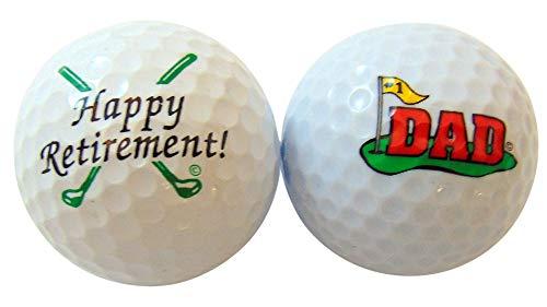 Westman Funktioniert Happy Retirement Dad Golf Ball Golfer Geschenk Pack, Set von 2 -
