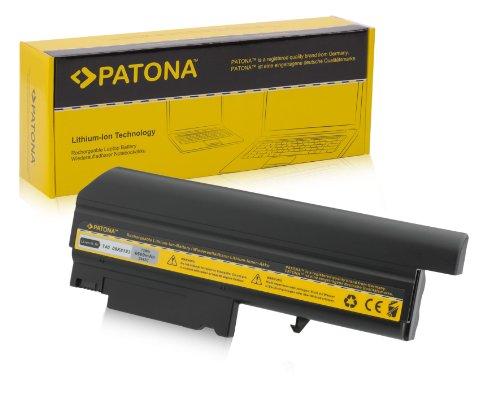 PATONA Laptop Akku für IBM Thinkpad T40 | T41 | T42 | T43 | R50 | R51 - [ Li-ion; 6600mAh; schwarz ] (T41 Mini T42)