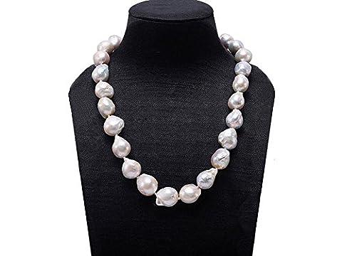 jyx Barock Zuchtperlen Weiß Edison Süßwasserperle Halskette