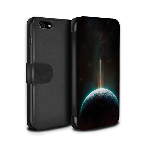 Offiziell Chris Cold PU-Leder Hülle/Case/Tasche/Cover für Apple iPhone 8 / Phönix/Raumzeit Muster / Galaktische Welt Kollektion Phönix/Raumzeit
