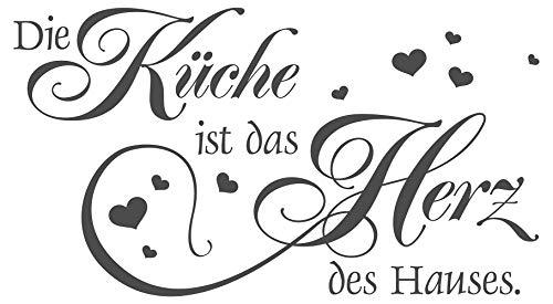 'I Wandtattoo 11570die Küche ist Das Herz des Hauses (Englischer Sprache)