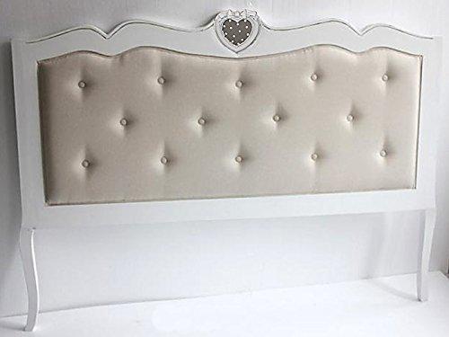 Testiera Per Letto Matrimoniale : Testiera letto singolo in legno bianco spazzolato xh cm