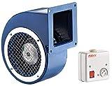 Radialventilator AC Zentrifugalventilator Lüfter Absauggebläse 485m³/h 140-60 inklusive Drehzahlregler