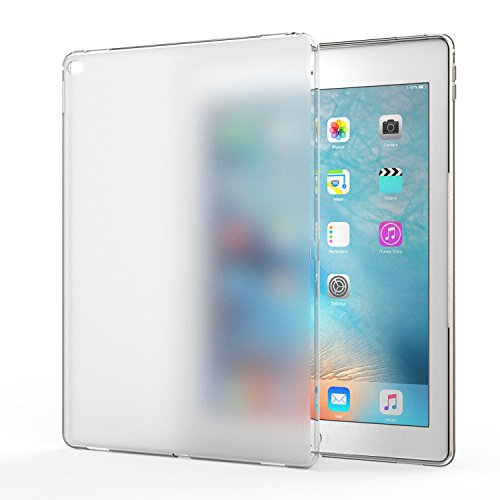 MoKo Case für Apple iPad Pro 12.92015–Bumper Flexible Weich Haut-Silikon transparent-TPU Gummi Rosen Abdeckung für iPad Pro 12.92015(nicht für 2017Typ), Crystal Clear (Ipad Case Silikon)