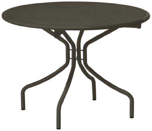Emu 308744100 Cambi Klapptisch 874, ø 108 cm, pulverbeschichteter Stahl, indish braun
