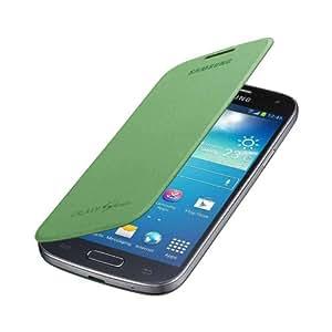 Etui/housse OFFICIEL Samsung Galaxy S4 mini I9195 Flip cover (remplace cache batterie) - Vert - EF-FI919BG