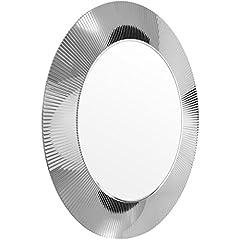 Idea Regalo - Kartell 9951CR, Specchio rotodno All Saints, effetto plissettato, ø 78 x 4 cm, Argento (Silber)