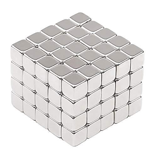 Neodym Super Magnete Würfel 5 x 5 x 5 mm [100 Stücke] Sehr starke Magnete für Glas-Magnetboards, Magnettafel, Whiteboard, Tafel, Pinnwand, Kühlschrank, und vieles mehr