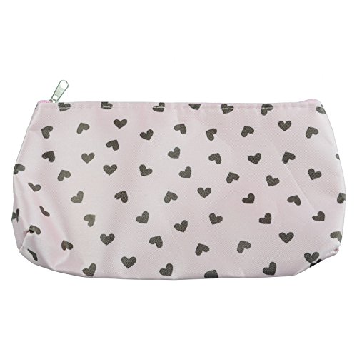 SODIAL(R) Sweet Hearts Sac Cosm¨¦tique Trousse ¨¤ maquillage Sac ¨¤ main - rose