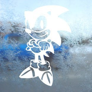 Sonic Notebooks (Aufkleber / Autoaufkleber / Sticker / Decal Sonic White Decal Ssmb Brawl Skin Wii Laptop Window White Sticker)