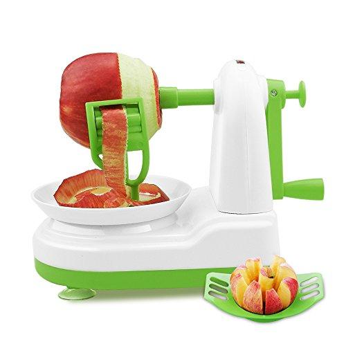 Épluche Pommes, Sotical Veamor Multifonction Cuisine Pèle Pommes de Poire, Pommes, Fruits, Légumes et Pomme coupé(vert)