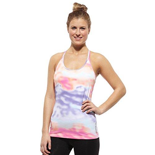 Reebok Damen Yoga Cloud Print Les Mills Tank Top L Punch (Reebok Yoga)