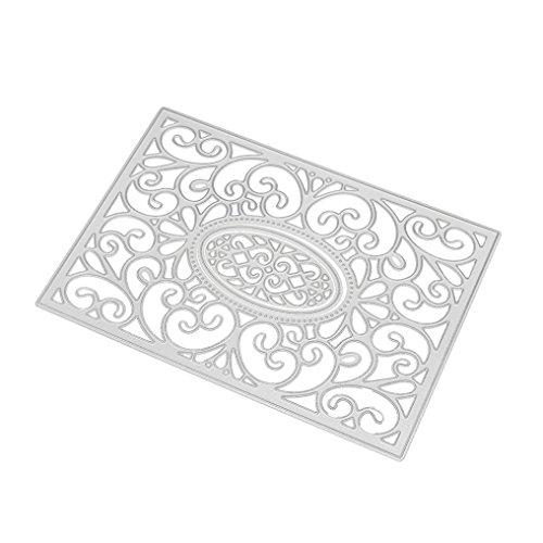 Präge- und Stanzschablone aus Metall, für Bastelarbeiten, Scrapbooking, Papierkarten, silberfarben, C