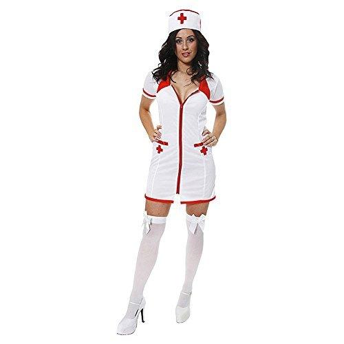 Henbrandt Sexy Krankenschwester Kostüm (Weiß) (Nichts Krankenschwester Kostüme)