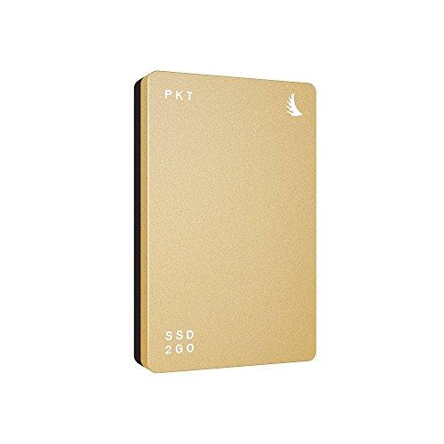 Angelbird SSD2go PKT USB3.1 Gen2 512GB - externe portable, High-Speed SSD Metallgehäuse gold [560MB/s I USB3.1 Gen 2 I TRIM Support I 3 Jahre Garantie I Made in Austria I USB-C + USB-A Kabel] -