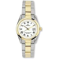 Reloj Mondia Italy Reloj mujer–cuarzo esfera blanco con Index y números romanos
