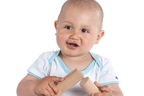 CreaBLOCKS 2-in-1 Steckbox / Formensortierspiel / Sortierbox Baby – Bauklötze - 4