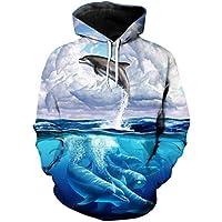 B-Pertand Cool Flying Dolphin Print Sportswear, la última Moda, Sudadera con Capucha