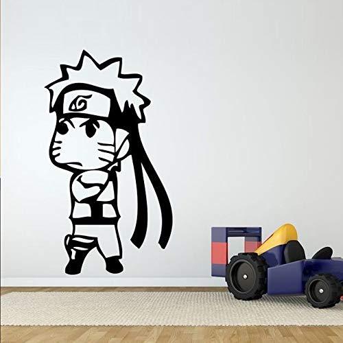jiushizq Cartoon Charakter Wandaufkleber Für Kinderzimmer Jungen Vinyl Wandtattoos Schlafzimmer Tapete Kunst Dekoration Wandbilder Schwarz 57X107 cm -