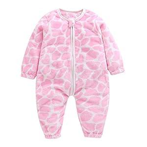 Ropa Bebe Invierno   Ropa de Mono de Dormir de Franela Gruesa y cálida para bebés y niños pequeños?? Bebés Terciopelo Ropa 2