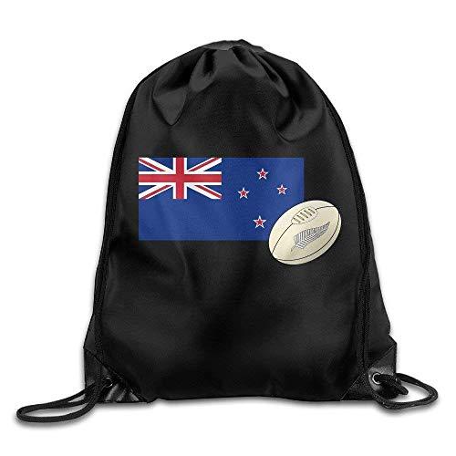 vcbndfcjnd NZRU New Zealand Rugby Union Drawstring Bag Drawstring Backpack Size: 17 Inch X 14 Inch