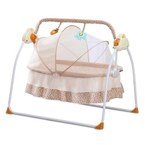 Zlmi presepe multi-funzione intelligente elettrico confortevole equilibrio traspirante sedia a dondolo adatto per neonato 0-6 anni quattro stagioni universale,beige