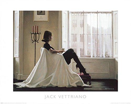 empireposter Vettriano, Jack - In Thoughts of You - Kunstdruck Artprint Gemälde Frau im Sessel - Grösse 50x40 cm 50 Home Cinema