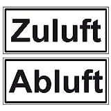 LEMAX® Aufkleber Abluft/Zuluft 2-teilige Garnitur 40x90mm