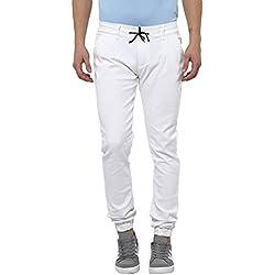 Urbano Fashion Men's Slim Fit Jeans (jog-white-uf-30-fba)