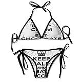 Womens Sexy Bikini 2 Pieces,Kingdom Crown Black and Sexy Bikini 2 Pieces