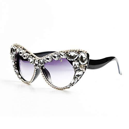 TIANKON Mode Übergröße Cat Eye Sonnenbrille Frauen Kristall Sonnenbrille Für Damen Uv400 Eyewear