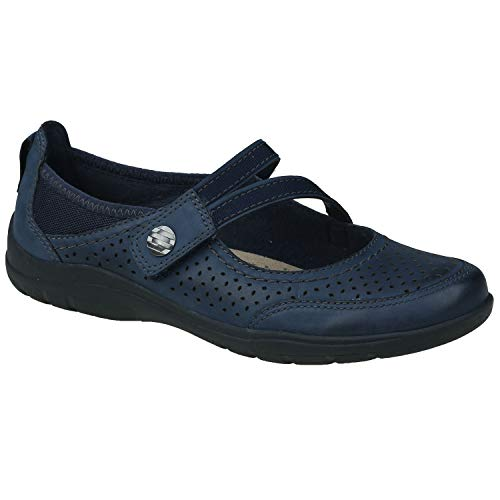Earth Origins New Women's Tiffany Mary Jane Navy Blue Vintage Leather 6.5 -
