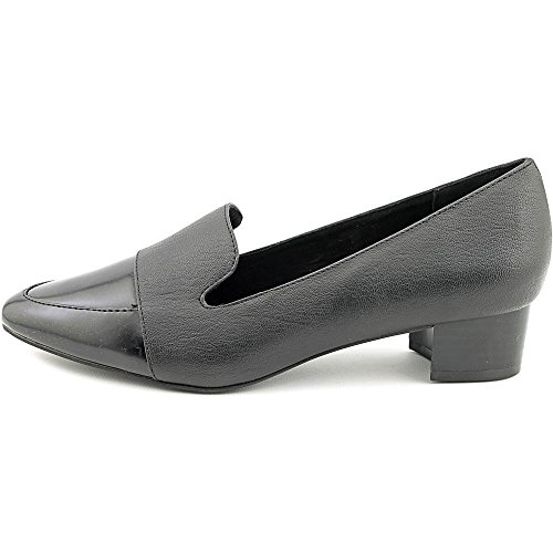 Ann Marino by Bettye Muller Make Statement Femmes Cuir Mocassin Black
